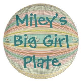 """Placa - """"grande""""/patos del """"del chica muchacho gra platos de comidas"""