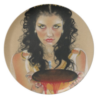 Placa griega de la diosa de Circe Platos De Comidas