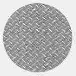 Placa gris del diamante etiqueta redonda