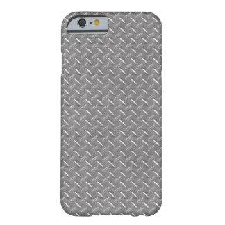 Placa gris del diamante funda para iPhone 6 barely there