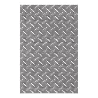 Placa gris del diamante papeleria