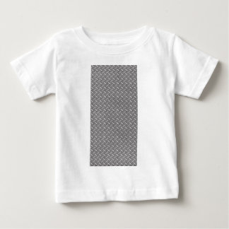 Placa gris del diamante playera para bebé