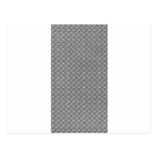 Placa gris del diamante postal