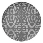 Placa gris francesa plato