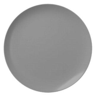 Placa gris plato para fiesta