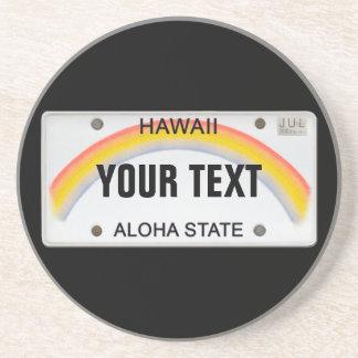 Placa hawaiana (adaptable) posavasos cerveza