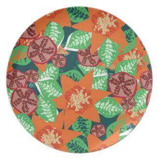 Placa hawaiana de la granada platos