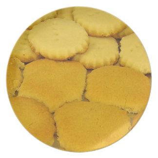 Placa hecha en casa de las galletas platos