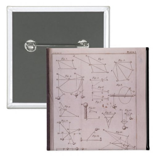 Placa I, ilustrando la ley II del volumen I Pin Cuadrado