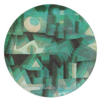 Placa ideal de la ciudad de Paul Klee Plato Para Fiesta