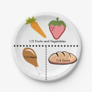 Placa igual de las porciones plato de papel de 7 pulgadas
