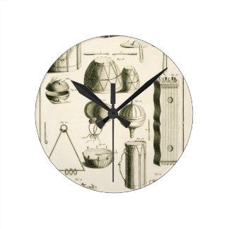 Placa II: Instrumento de percusión antiguo y moder Relojes