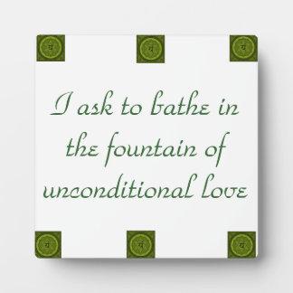 Placa incondicional de Chakra del corazón del amor