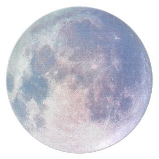 Placa inspirada del diseñador de la Luna Llena Plato Para Fiesta