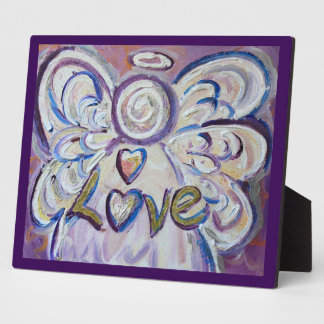 Placa inspirada del poema de la pintura del ángel