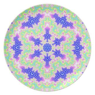 Placa integral 3 del Hexagram V de los vórtices Plato De Cena