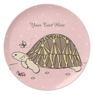 Placa irradiada personalizable de la tortuga plato para fiesta