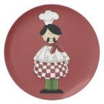 Placa italiana del cocinero #2 platos de comidas
