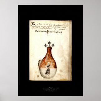 Placa italiana medieval 11 del poster de la alquim