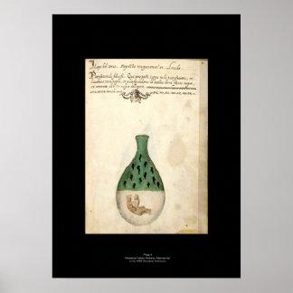 Placa italiana medieval 4 del poster de la póster