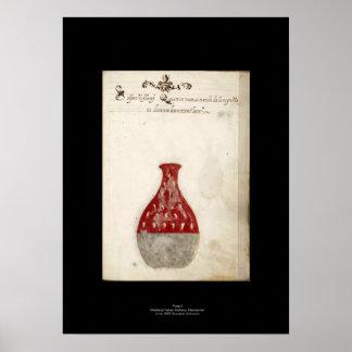 Placa italiana medieval 9 del poster de la póster
