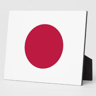Placa japonesa de la bandera