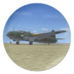 Placa japonesa del avión del bombardero de G4M1 Be Platos