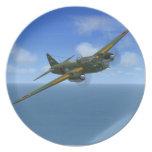 Placa japonesa del avión del bombardero de G4M1 Be Plato De Comida