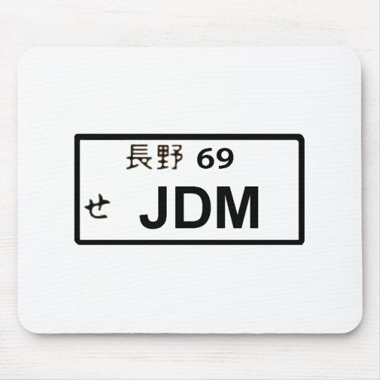 Placa japonesa Mousepad de JDM Alfombrillas De Ratón