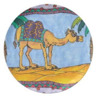 Placa Kooky del camello Platos Para Fiestas