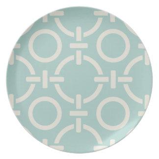 Placa ligada de los círculos plato para fiesta