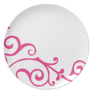 Placa (magenta) de la marfil del cirro plato