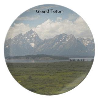 Placa magnífica de Teton Plato