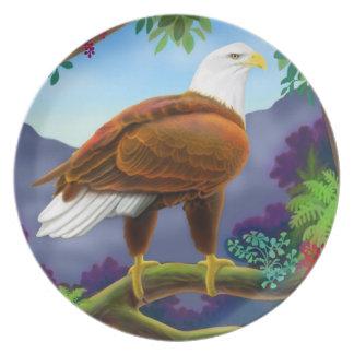 Placa majestuosa de Eagle calvo Plato Para Fiesta