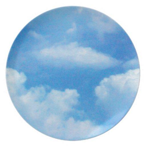 Placa majestuosa de la nube plato para fiesta