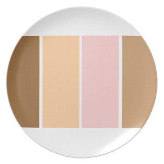 Placa marrón anaranjada rosada del modelo plato para fiesta