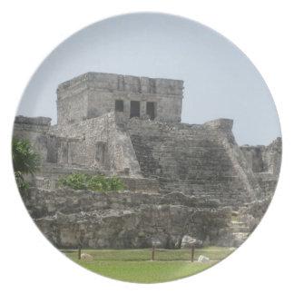 Placa maya de la ruina plato