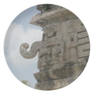 Placa maya de la ruina platos