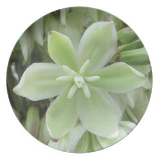 Placa - melamina - flor de la yuca plato de comida