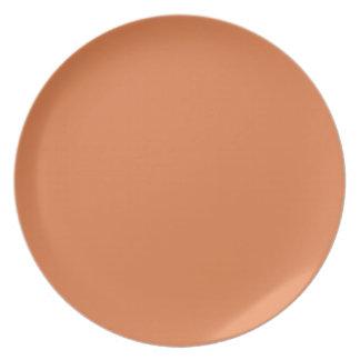 Placa Melón-Coloreada profunda Platos