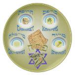 Placa mesiánica de Seder Platos De Comidas