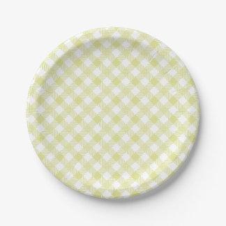 Placa modelada guinga verde platos de papel