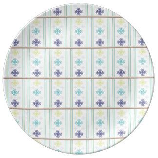Placa modelada plato de cerámica