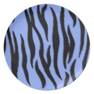 Placa, modelo de la cebra platos