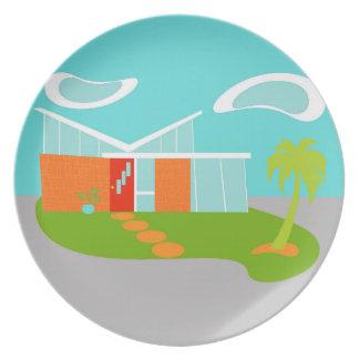 Placa moderna de la melamina de la casa del dibujo platos de comidas