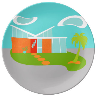 Placa moderna de la porcelana de la casa del plato de cerámica