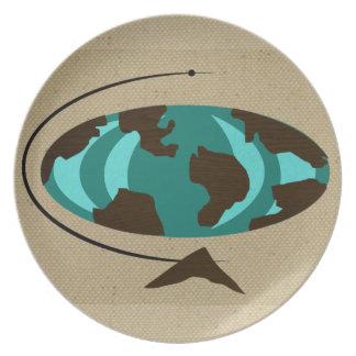 Placa moderna del arte del globo de los mediados plato de comida