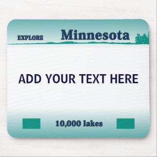 Placa Mousepad de Minnesota Alfombrillas De Raton