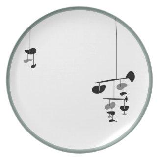 """Placa MÓVIL 10"""" cena de la melamina Platos De Comidas"""