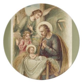 Placa: Natividad de San José Plato Para Fiesta
